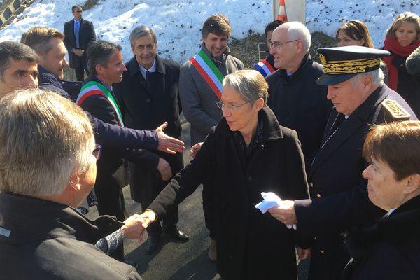 La ministre des Transports, Elisabeth Borne, était à la cérémonie d'hommage des 20 ans de l'incendie.