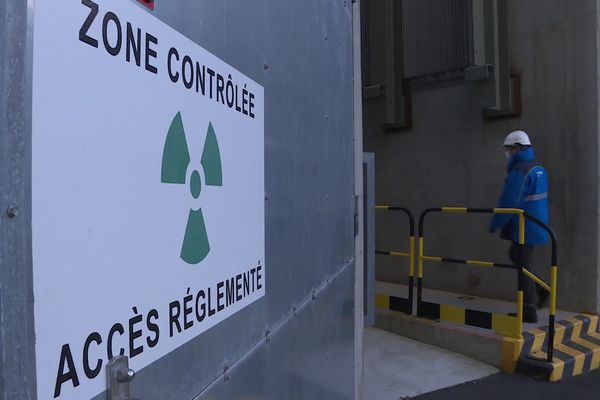 """Exercice de sécurité de la """"Force rapide du nucléaire"""" à la centrale EDF de Paluel (Seine-Maritime)"""