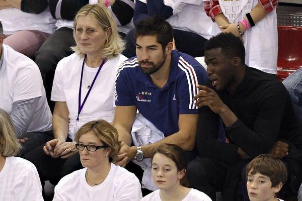 Rouen - Nikola Karabatic dans les tribunes avant son retour en équipe de France dimanche en Turquie - 1er novembre 2012.