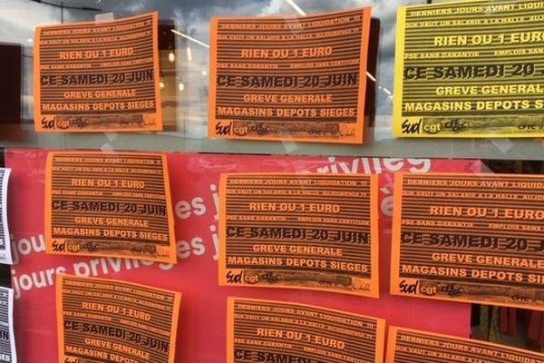 Magasin La Halle Vesoul en grève