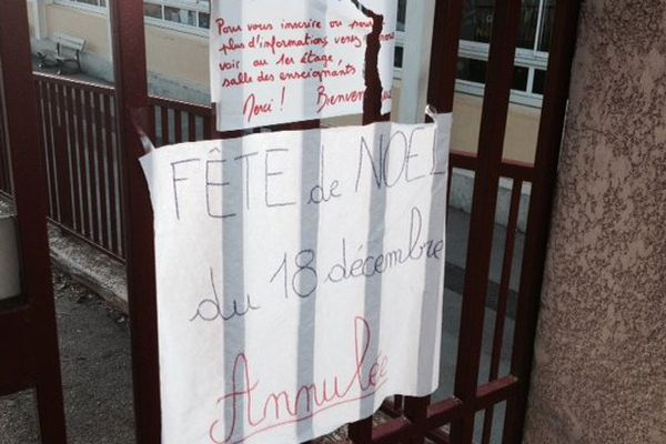 Fête de l'école annulée à Bédarieux
