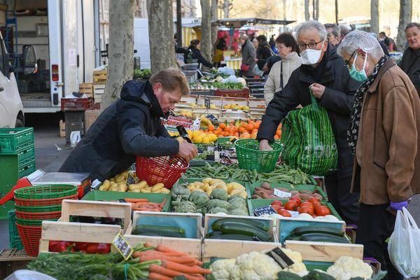 Un marché ouvert à Lyon - Photo d'illustration