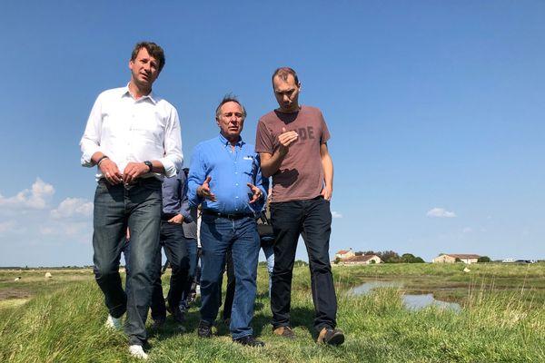 Yannick Jadot et Allain Bougrain Dubourg se sont rendus à la réserve natuelle de Moëze.