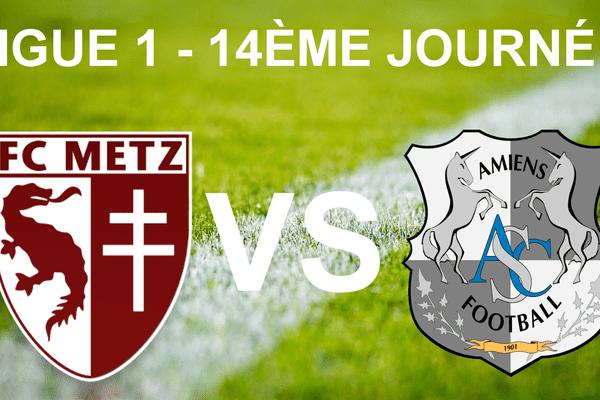 Ligue 1 - 14ème journée - FC Metz vs ASC Amiens
