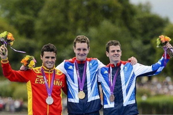 Alistair Brownlee, Javier Gomez et Jonathan Brownlee viennent de rafler l'or, l'argent et le bronze !