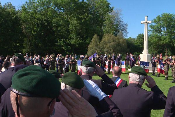 L'hommage au commando Kieffer 77 ans après, à Hermanville-sur-mer