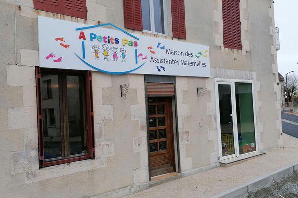 Cette ancienne boulangerie a été réaménagée en maison d'assistantes maternelles, lundi 7 décembre 2020.