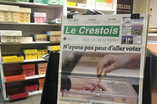 """120 ans d'existence pour l'hebdomadaire """"Le Crestois""""... Un numéro avant la crise coronavirus. Le journal est à l'arrêt pour cause d'avarie !"""