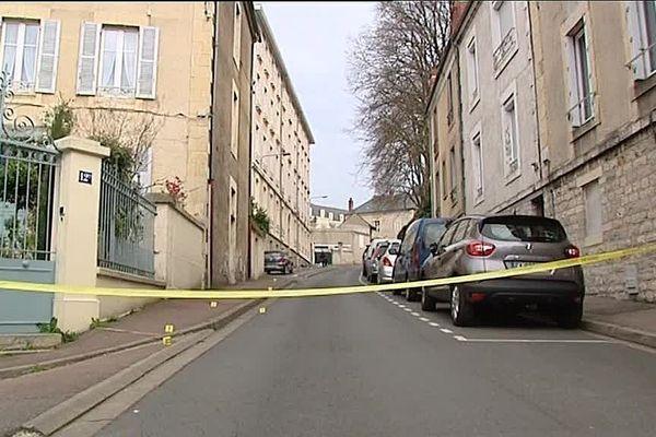 Le meurtre a eu lieu rue Jeanne-d'Arc à Nevers, dimanche 26 mars 2017