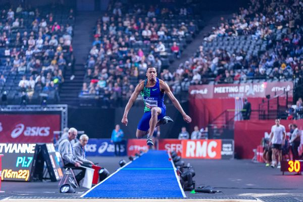 Image d'illustration : Jean-Marc Pontvianne au meeting de Paris Indoor le 2 février 2020  - Triple Saut