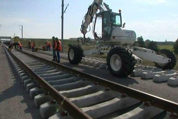 Ce premier rail mesure 400 mètres