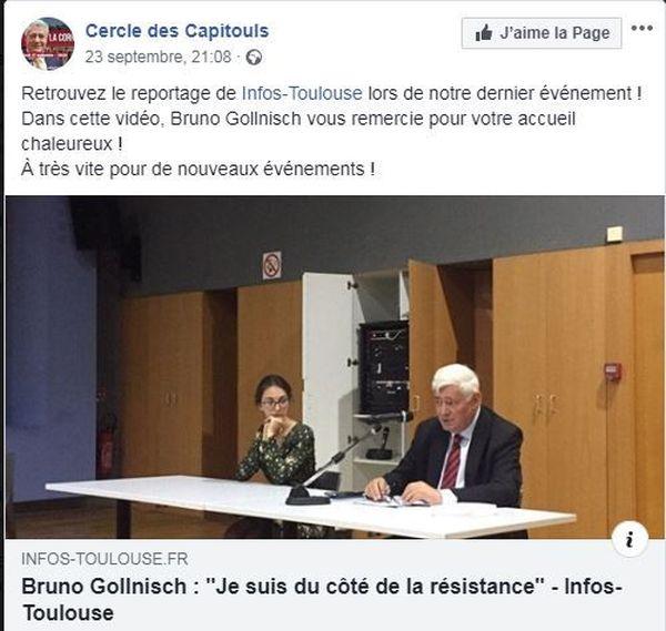 L'ancien vice-président du Front National, Bruno Gollnisch, est venu animer une conférence à Toulouse à l'invitation du Cercle des Capitouls.