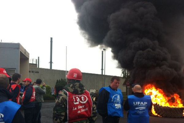Mouvement de grève des surveillants de prison de Laon (02)