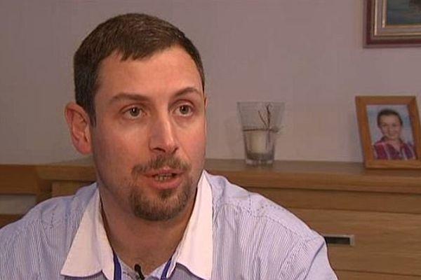 Christophe Caron, une des victimes de l'explosion de la roquette de Bretteville-sur-Odon
