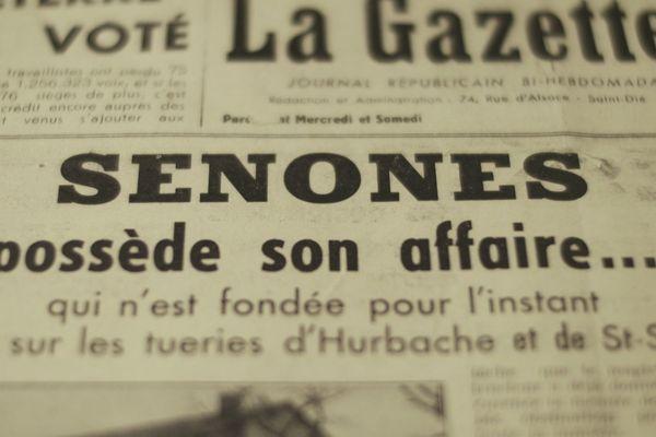 345 habitats de Sénones (Vosges) ont été déporté en octobre 1944.