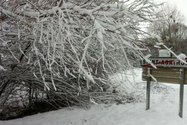 Saint-Agathon sous la neige