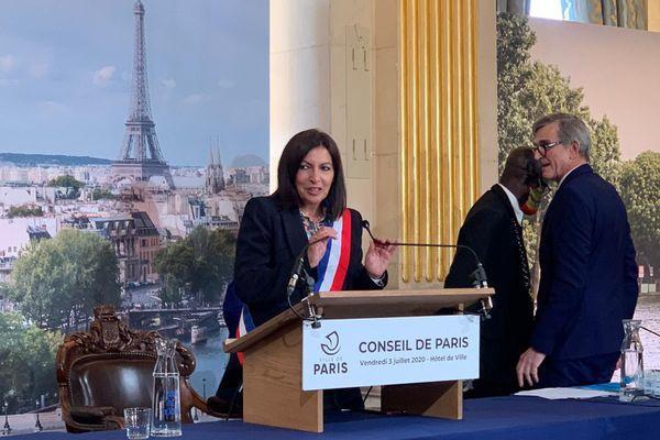 Anne Hidalgo a été élue maire par le Conseil de Paris le vendredi 3 juillet.