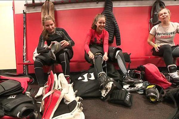 L'équipe féminine s'entraîne depuis trois ans sur la glace du Coliseum d'Amiens