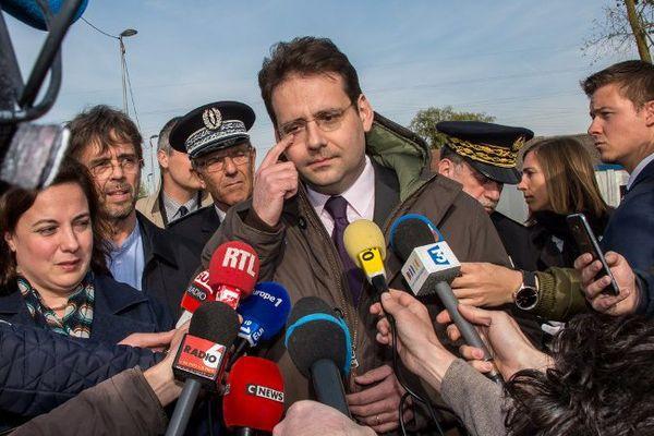 Le ministre de l'Intérieur Matthias Fekl s'est rendu sur place.