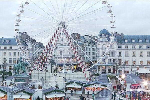 L'homme a été interpellé à proximité de la Place du Martroi à Orléans, lieu du marché de Noël