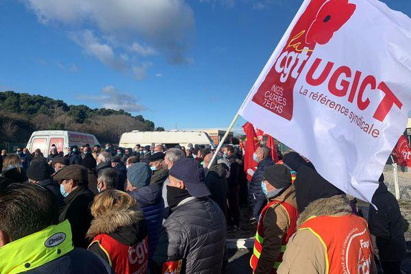 Narbonne (Aude) - des salariés de l'usine Orano Malvesi sont en grève illimitée depuis le 16 octobre - 2 décembre 2020.