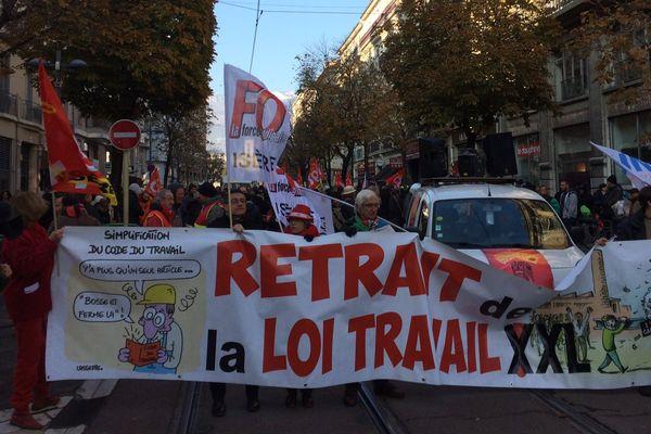 Lors d'une précédente manifestation à Grenoble. Photo d'illustration.