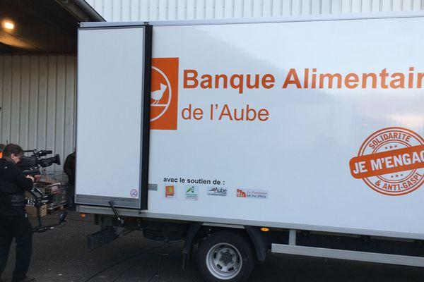 La banque alimentaire de l'Aube, à La Chapelle St Luc.