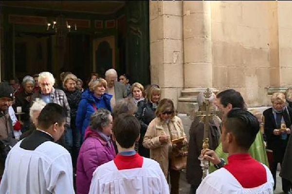 Messe en hommage à Aurélie de Peretti, à St-Tropez, le 13 novembre 2016