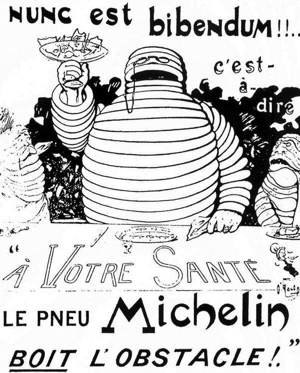 La première affiche représentant le bidendum Michelin, créée en avril 1898.
