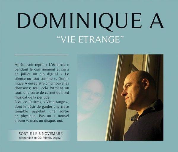 """""""Vie étrange"""", Dominique A, sortie le 6 novembre 2020"""