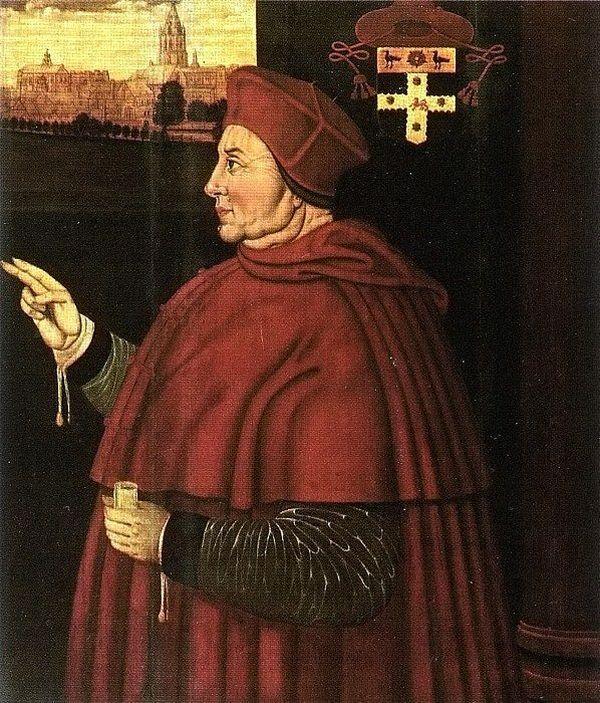 Le cardinal Wolsey, peint vers 1610-11, bien après sa mort, par Sampson Strong.