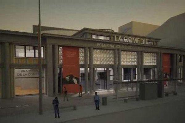 Voici à quoi ressemblera la façade de la future scène nationale de Clermont-Ferrand.