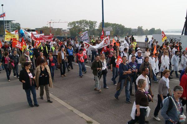 Les Sanofi dans la rue en octobre dernier (archive).