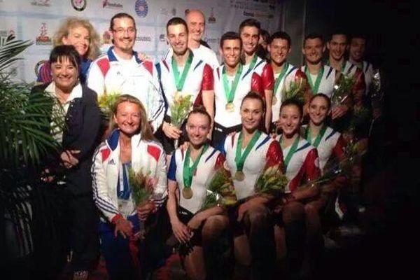 Les athlètes Savoyards, champions du monde par équipe