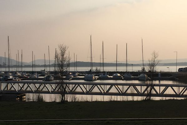 Lac de Madine, le port côté Nonsard-Lamarche en mars 2019.