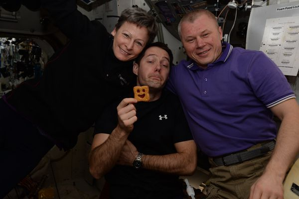 Thomas Pesquet et ses collègues astronautes s'amusent dans l'espace avec les Choco BN