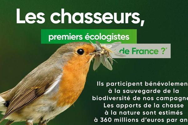 La campagne de publicité de la Fédération nationale des chasseurs de France
