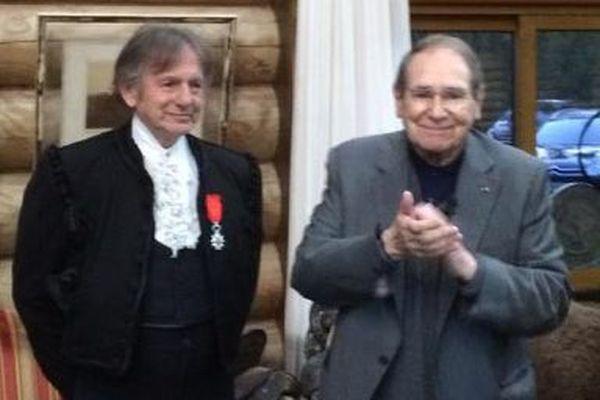 Mario Luraschi a reçu la Légion d'honneur des mains de Robert Hossein