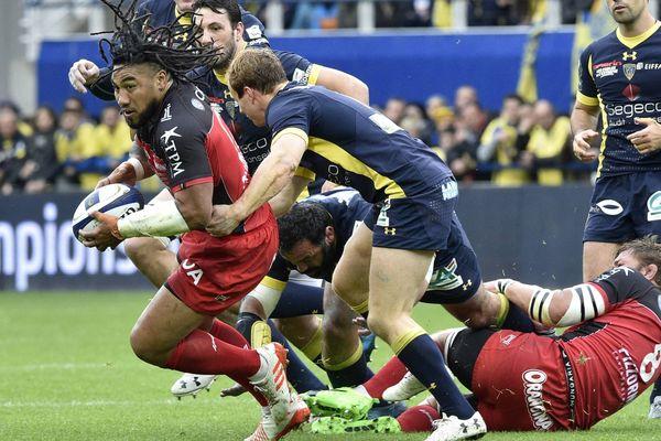 Le RC Toulon s'est incliné face à Clermont en Coupe d'Europe de rugby, le 2 avril 2017