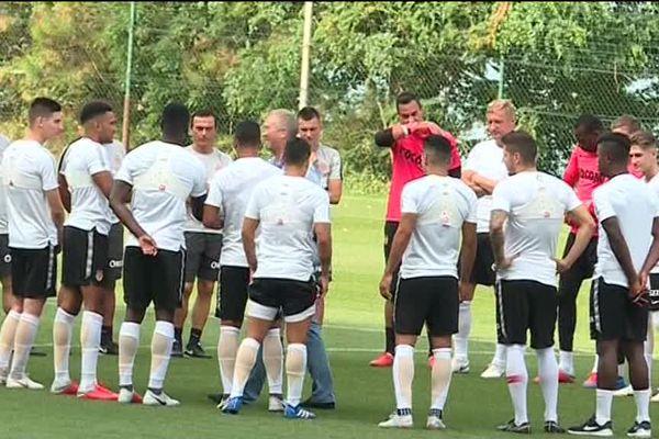 Retour sur le terrain pour les joueurs de l'AS Monaco.