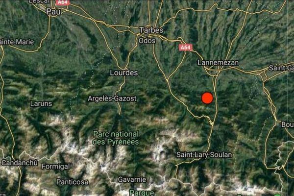 L'épicentre était dans les Hautes-Pyrénées