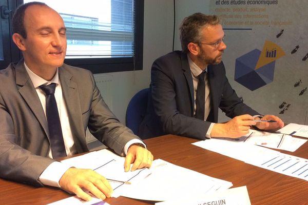 Cyril Seguin, Responsable Service Statistique Pôle Emploi CVdL et Vincent Bernard, Responsable Service Etudes INSEE CVdL