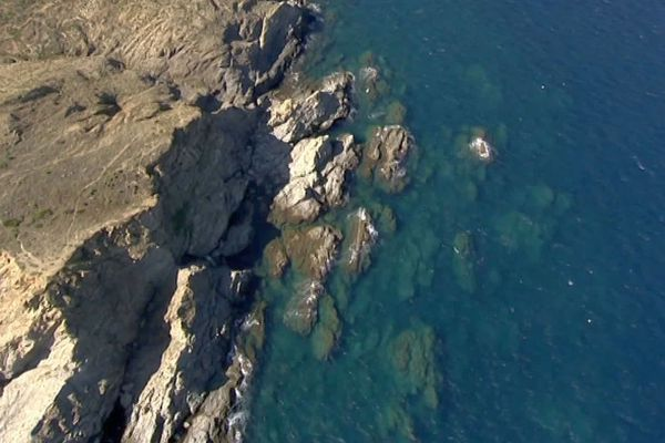 La réserve naturelle marine de Cerbère-Banyuls, dans les Pyrénées-Orientales, non loin de la frontière.