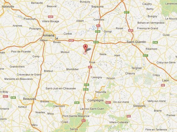 C'est à Rouvroy-en-Santerre que les plus basses températures sont enregistrées