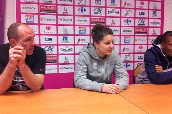 Lors de la conférence de presse de l'USO Mondeville avant la rencontre contre Zagreb (29 janvier 2013)