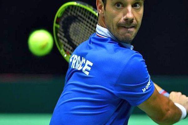 Richard Gasquet en Coupe Davis en Croatie - 16 septembre 2016.