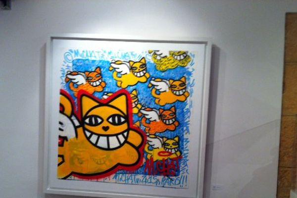"""""""M , CHAT"""" à la galerie Saltiel"""
