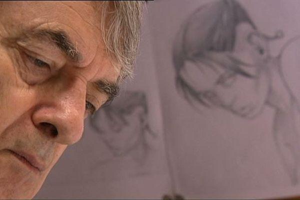 Pierre Bourgeon, au travail