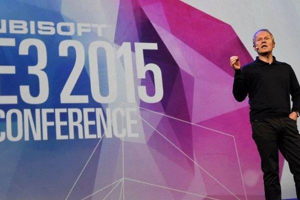 """Yves Guillemot, l'un des frères à l'origine d'Ubisoft, lors de la """"Ubisoft E3 conference"""" à Los Angeles (USA) en juin 2015"""