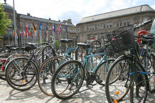 """Pour lutter contre le fléau du vol de vélo, la ville de Strasbourg lance l'opération """"Vigivélo""""."""